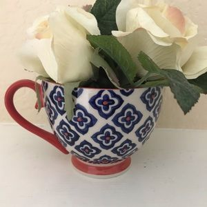 Other - Orange and Blue Tea Cup